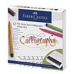 Faber-Castell Pitt Artist Pen Calligraphy Studio Box Front