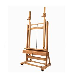 Mabef M02 Double Mast Studio Easel Front | London Graphic Centre