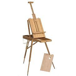 Frisk Folding Bamboo Sketch Box Easel Full | London Graphic Centre