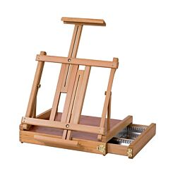 Jullian Table Deluxe Easel With Drawer In Beechwood And Carrying Bag