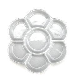 Jakar Porcelain 6 Petal Well Flower Shaped Palette Top | London Graphic Centre