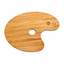 Jakar Wooden Palette Oiled Oval Walnut 24x35cm 6635 Front
