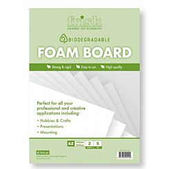Frisk Bio-degradable White Foamboard A2 5mm Pack of 2 Front | London Graphic Centre