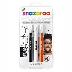 Snazaroo Brush Pen Halloween Face Paint Set