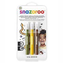 Snazaroo Brush Pen Jungle Face Paint Set