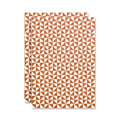 Ola Studio Notebook Kaffe Print Brick Red Ruled Pages | London Graphic Centre