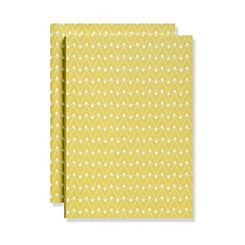 Ola Studio A5 Notebook Dash Print Leaf Green Ruled Pages | London Graphic Centre