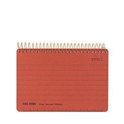 Midori Ring Memo Notebook B7 Basic Red Front