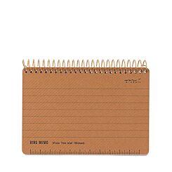 Midori Ring Memo Notebook B7 Basic Black Front