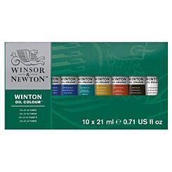 Winsor and Newton Winton Oil Colour Tube Set of 10 x 21ml | London Graphic Centre
