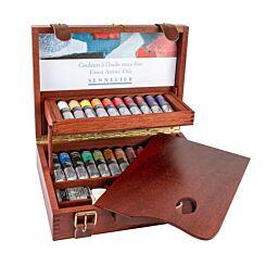 Sennelier Deluxe Wooden Oil Set 22 Colours Palette | London Graphic Centre