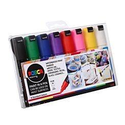 Uni Posca Paint Marker PC-8K Starter Set Pack of 8