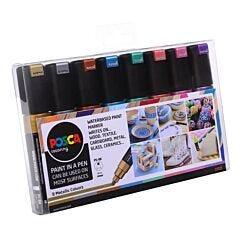 Uni Posca Paint Marker PC-8K Metallic Set Pack of 8