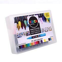 Uni Posca Paint Marker PC-1M Collection Box Side | London Graphic Centre