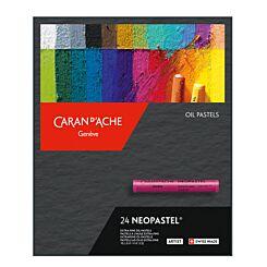 Caran d'Ache Neopastel Oil Pastels Box of 24 Front   London Graphic Centre