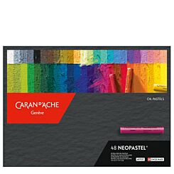 Caran d'Ache Neopastel Oil Pastels Box of 48 Front   London Graphic Centre