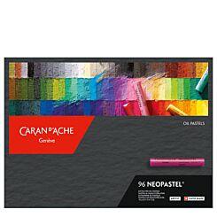 Caran d'Ache Neopastel Oil Pastels Box of 96 Front   London Graphic Centre