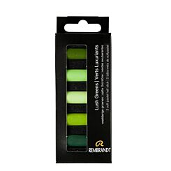 Rembrandt Soft Pastels Half Stick Set of 5 - Lush Greens