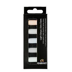 Rembrandt Soft Pastels Half Stick Set of 5 - Light Greys