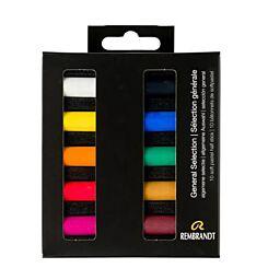 Rembrandt Soft Pastels General Selection Half Stick Set of 10