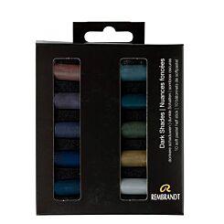 Rembrandt Soft Pastels Dark Shades Half Stick Set of 10