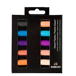 Rembrandt Soft Pastels Southwest Desert Palette Half Stick Set of 10