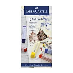 Faber-Castell Soft Pastels Creative Studio Box of 12 Front