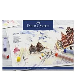 Faber-Castell Soft Pastels Creative Studio Box of 36 Front