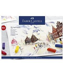 Faber-Castell Soft Pastels Creative Studio Half Stick Box of 72 Front