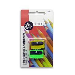 Jakar Pencil Sharpener Pack of 2 5004-2 Blister