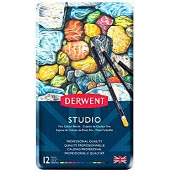 Derwent Studio Colour Pencil Tin Set of 12