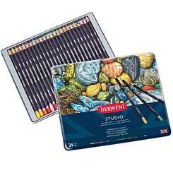 Derwent Studio Colour Pencil Tin Set of 24