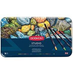 Derwent Studio Colour Pencil Tin Set of 36