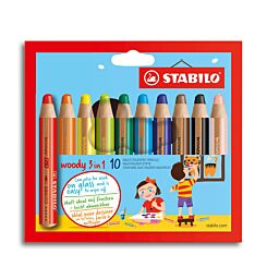 Stabilo Woody Pencil 10 Pack Box | London Graphic Centre