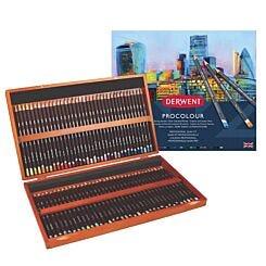 Derwent Procolour Professional Pencil Set of 72 in Wooden Box