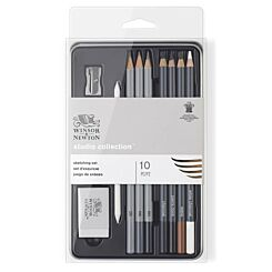 Winsor & Newton Studio Pencils Collection Sketching Pencil Tin of 10   London Graphic Centre
