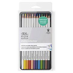 Winsor & Newton Studio Pencils Collection Watercolour Pencil Tin of 12   London Graphic Centre