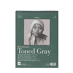 Strathmore Sketch Pad 400 Series Toned Grey 118GSM 11 x 14 Inches