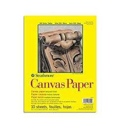 Strathmore Black Canvas Paper Pad 300 Series 187gsm 9 x 12 Inches Front Cover