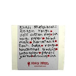 Khadi Papers Block Book Sketchbook Smooth 210gsm 21cm x 25cm BB4WS Front