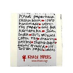 Khadi Papers Paperback Sketchbook White 150gsm 20cm x 20cm PPB1 Front