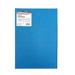 Seawhite Sketchbook A4 Cloth Cover Kingfisher Blue Front
