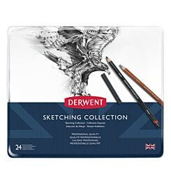 Derwent Sketching Pencil Collection Tin of 24 Front