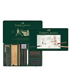 Faber-Castell Pitt Monochrome Set Artists Pencils Tin of 33