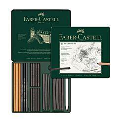 Faber-Castell Pitt Charcoal Set Pressed Sticks Tin of 24