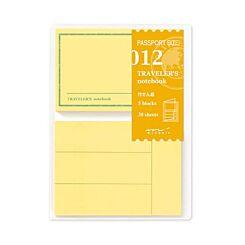 Midori Passport Sticky Note Refill 012 Front | London Graphic Centre