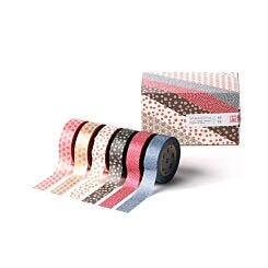 MT Washi Tape Wamon 5 Box Of 6 Patterned Rolls Full Range