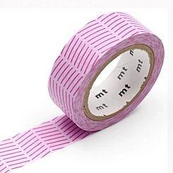 MT Washi Masking Tape Diagonal Purple Full Roll
