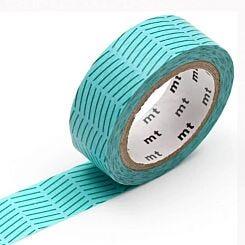 MT Washi Masking Tape Diagonal Green
