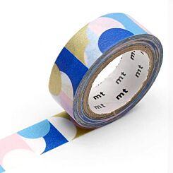 MT Washi Masking Tape Half Circle Pink Blue